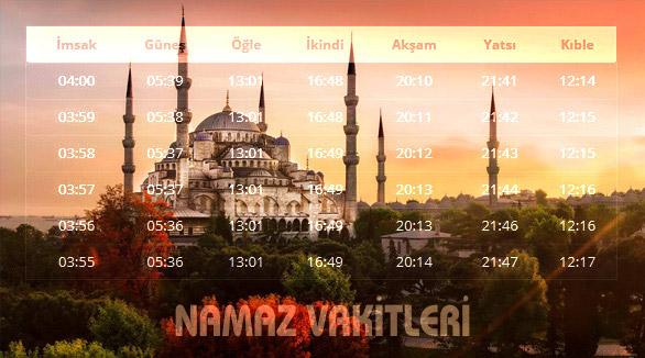 Namaza 5 Dakika Var